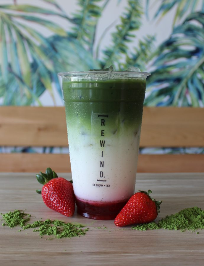 Strawberry Matcha Latte